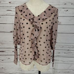 Darling Sheer polka dot Women's top